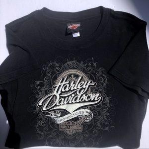 Harley Davidson Black T Shirt Medium